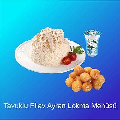 Tavuklu-Pilav-Ayran-Lokma-Menüsü